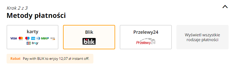 AliExpress, Blik